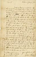 Letter to William Plaxton, Barbados, 10 Jan. 1723