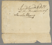 Marine bond, New Hampshire/West Indies (between 1755-1757)