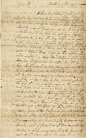 Letter to William Plaxton, Barbados, 7 Oct. 1723