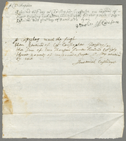 Receipt from Christopher Jeaffreson to George Atkinson and Jeremiah Cushinge, March 1, 1680