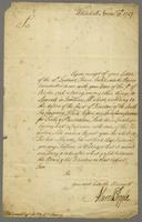 Letter to D. Wescomb, Whitehall, 15 Nov. 1727