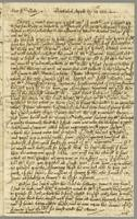 Letter to Richard Bate, Barbados, 28 April 1701
