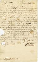 Boston, 10 Aug. 1753. Ms. Letter to Hugh Wentworth, signed…