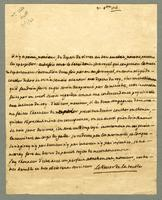 Martinique, 31 Oct. 1761. ALS to Pocquet de Puilhery