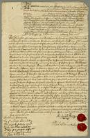 Bond from Majr Genll Lambert Mr Micajah Perry and Mr Richard Meriwether for pformance of Covents and paymt of 400l to Christopher Jeaffreson Esqr the 25th March 1713... (docket title).