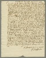 Copy of a letter to Mr Richd Meriweather Jany 2nd. 1713,14 Relative to Lambert the Appraisement of Slaves (docket title).